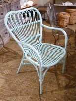 Clear blue rattan chair Bora Bora Chehoma