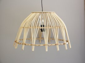 Bamboo hanging lamp Ibiza, natural style, Athezza