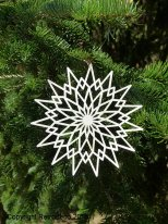 Christmas ornament paper star, christmas style, Ib Laursen