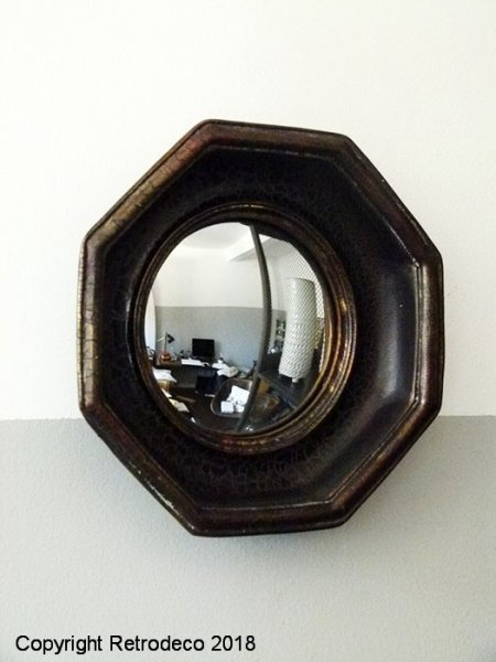 Octogonal witch mirror, antique style, Chehoma