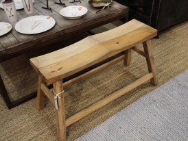 Natural wooden bench for 2, natural style, Chehoma