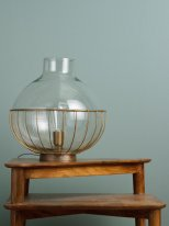 Glass and brass metal standing lamp Mabel Chehoma
