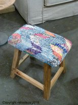 wooden and kilim stool Summer Chehoma