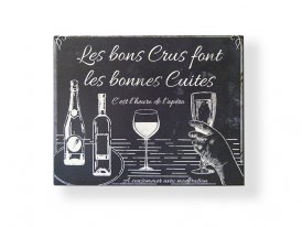 Metal sign Bons crus, bistro decor, Antic Line