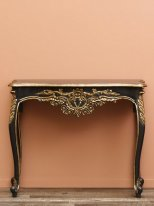 Black and gold mango console Lamour, antique style, Chehoma