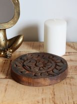 Wooden tray round Unique chapati tray (ref2), ethnic style