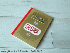Notebook I'm not on Facebook, Corinne Demuynck, Cartes d'Art