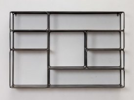Metal mural shelf with 8 racks Chehoma