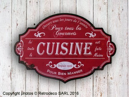 Decorative sign Cuisine, antique deco, Antic Line