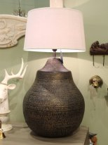 Hammered metal light Martel, ethnic style, Chehoma