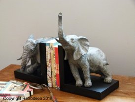 Bookends Elephant, déco brocante, Chehoma