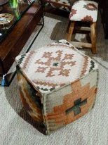 Kilim fabric square beanbag chair Chehoma