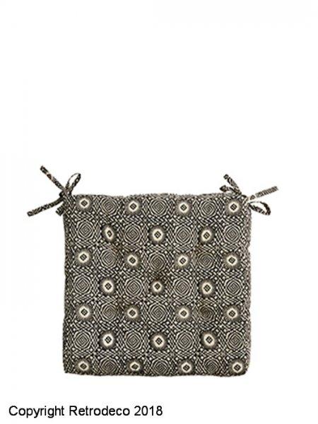 et Coussin chaise Stoltz de motif noir beigeMadam coton 7gyvfbY6