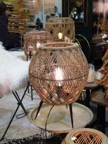 Small rattan light Romana, natural style, Athezza