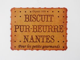 Plaque métal Biscuit, déco brocante, Antic Line
