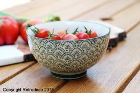 Grey blue ceramic bowl Maori Chehoma