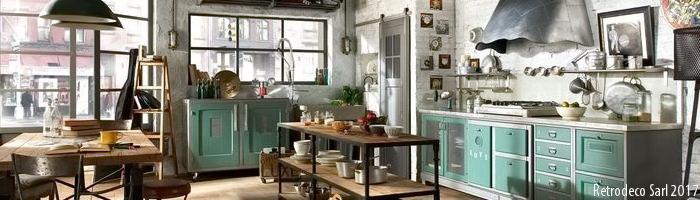 D co cuisine retrodeco for Deco cuisine zinc