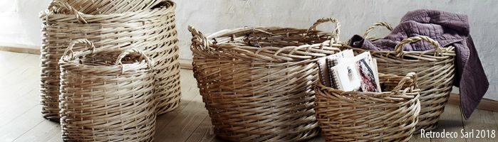 Decor objects Basket Retrodeco