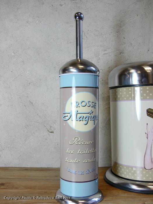balayette wc brosse magique d co vintage natives 211307 retrodeco boutique de d coration. Black Bedroom Furniture Sets. Home Design Ideas