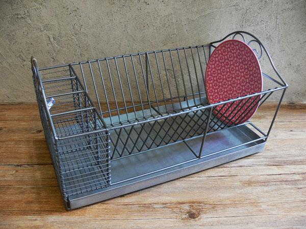 Egouttoir zinc d co zinc madam stoltz 6997 retrodeco boutique de d co - Egouttoir a vaisselle a suspendre ...