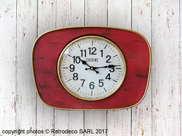 horloge de cuisine rouge elegant uud diy horloges murales horloge numrique de cuisine en plein. Black Bedroom Furniture Sets. Home Design Ideas