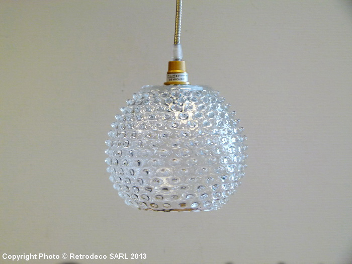 suspension boule pointe diamant transparente chehoma luminaire chehoma suspension chehoma. Black Bedroom Furniture Sets. Home Design Ideas