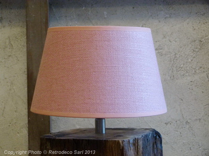 abat jour lin rose tendre 20cm chehoma 9700rt20. Black Bedroom Furniture Sets. Home Design Ideas
