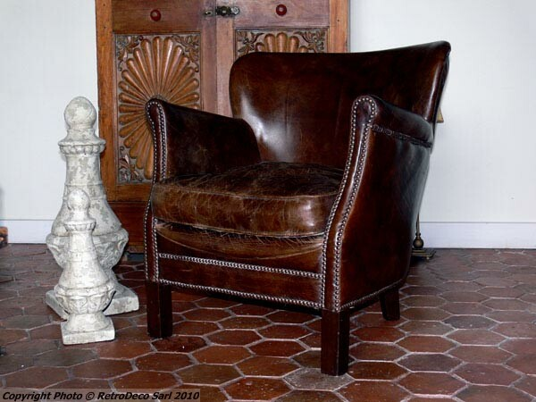 Fauteuil cuir Turner Chehoma Déco vintage [ ]