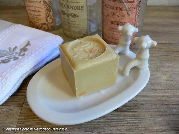 Porte savon baignoire c ramique d co vintage seb10309 for Accessoire porte savon pour baignoire
