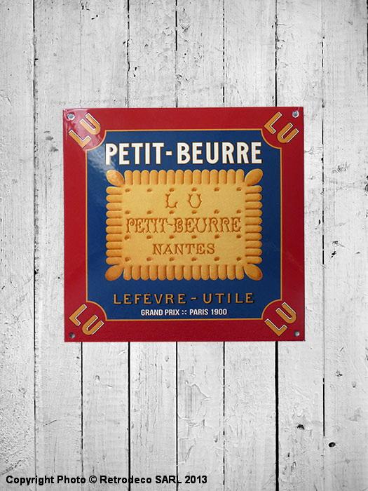 Plaque maill e carr e petit beurre d co r tro email - Plaque deco cuisine retro ...