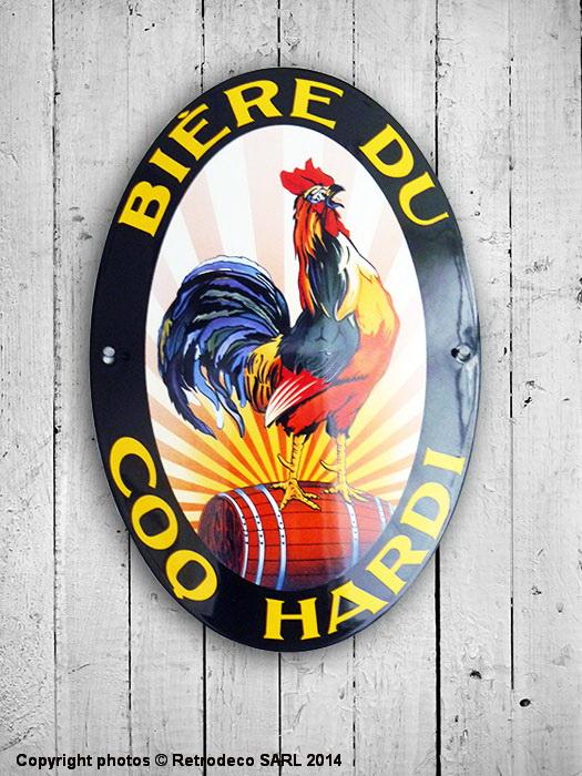 Plaque maill e ovale le coq hardi d co bistrot email - Plaque deco cuisine retro ...
