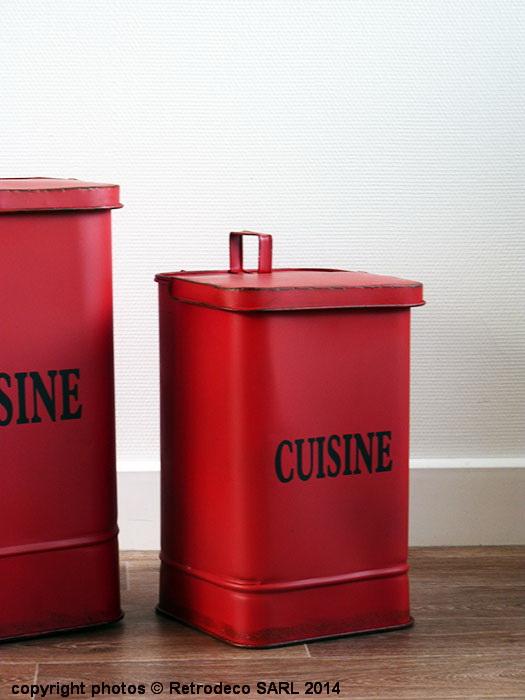 Poubelle m tal cuisine pm d co brocante seb13832 2 - Petite poubelle de cuisine ...