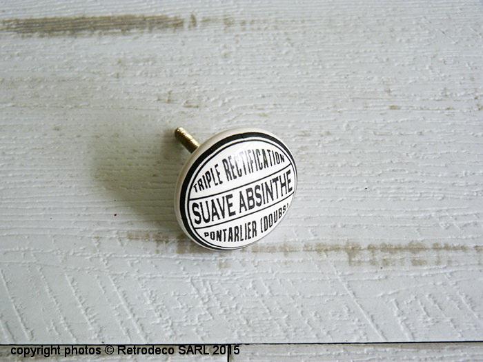 Bouton de porte porcelaine suave absinthe d coration - Bouton de porte en porcelaine ...