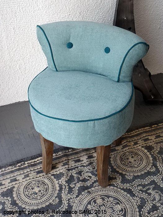 petit fauteuil crapaud p trole canard d co de charme. Black Bedroom Furniture Sets. Home Design Ideas