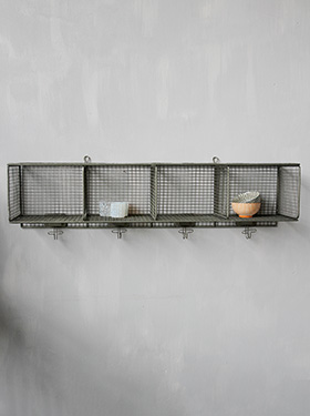 Tribeca metal grid shelf Factory Chehoma