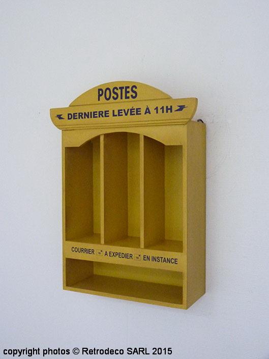 meuble courrier poste jaune patin pm d co r tro antic. Black Bedroom Furniture Sets. Home Design Ideas