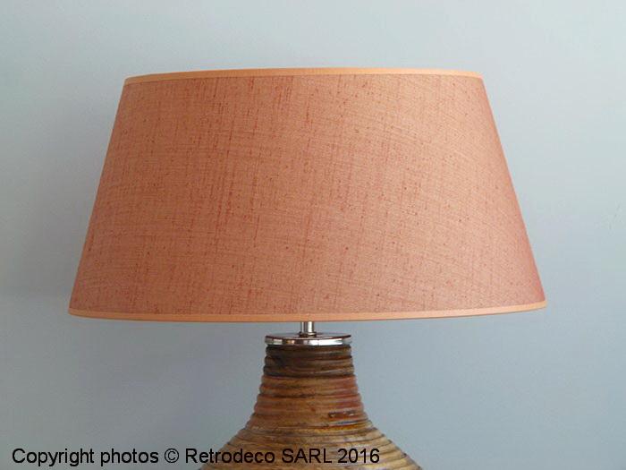 abat jour cylindrique lin orange 40cm chehoma 9700mr40. Black Bedroom Furniture Sets. Home Design Ideas
