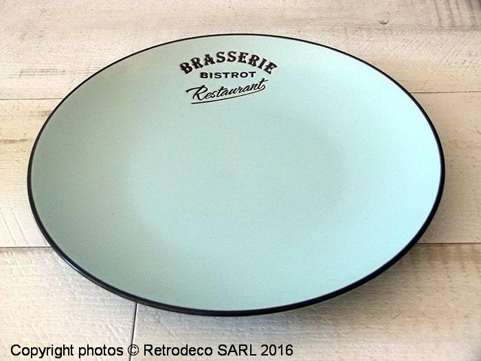 assiette plate brasserie bleue d co bistro antic line seb15189 1. Black Bedroom Furniture Sets. Home Design Ideas
