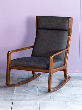 Rocking chair 'Kansas' gray color - Chehoma