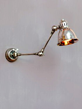 Wall lamp nickel articulated, factory style, Chehoma