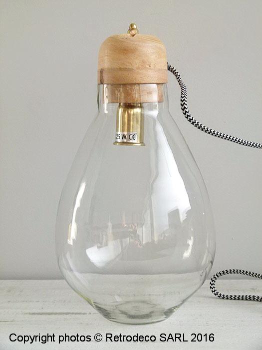 lampe ampoule poser d co naturelle chehoma 19860. Black Bedroom Furniture Sets. Home Design Ideas