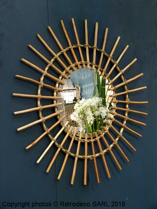 Miroir soleil en rotin d co boh me chehoma 20396 for Miroir atelier chehoma