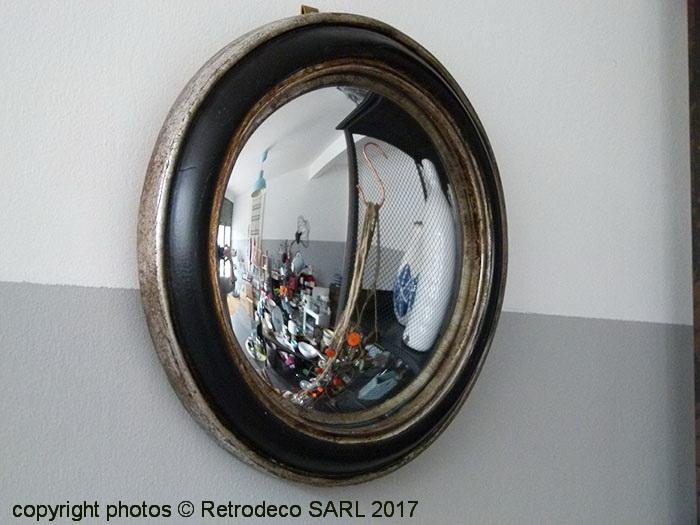 miroir de sorci re diam 19cm d co brocante chehoma 20309. Black Bedroom Furniture Sets. Home Design Ideas