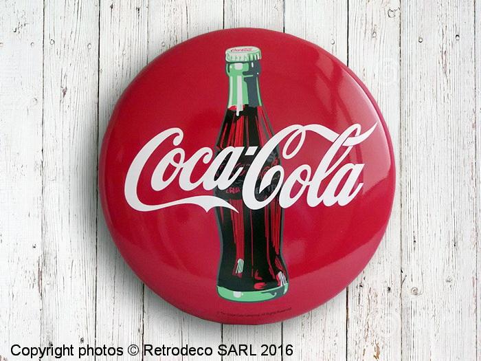 plaque d corative ronde coca cola email replica cc416. Black Bedroom Furniture Sets. Home Design Ideas