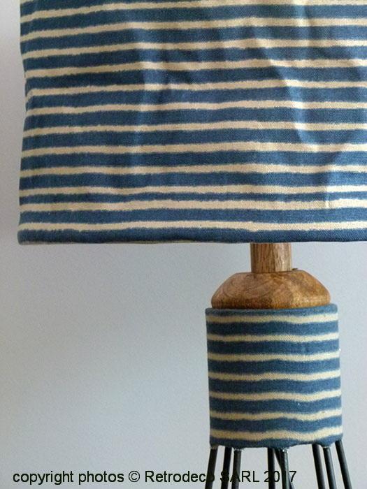 lampe bord de mer lampe bois flott abatjour cm rond lin bord de mer handmade ide cadeau hygge. Black Bedroom Furniture Sets. Home Design Ideas