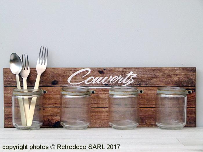 Range Verre Mural : range couverts mural et pots en verre d co campagne ~ Edinachiropracticcenter.com Idées de Décoration