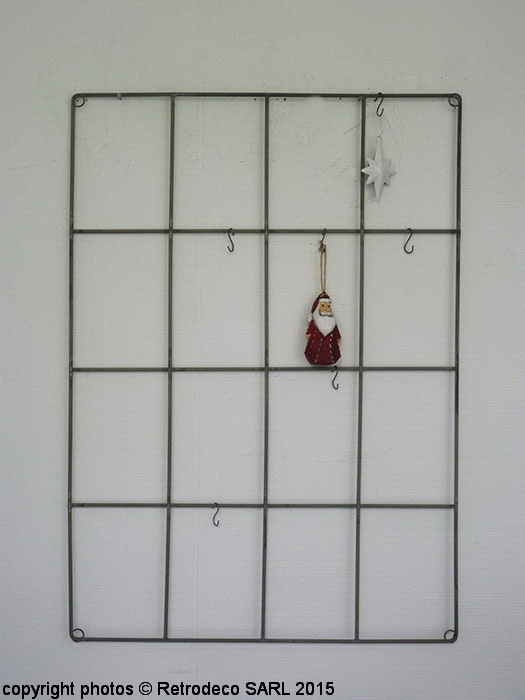 support mural m tal 24 crochets d co scandinave ib. Black Bedroom Furniture Sets. Home Design Ideas
